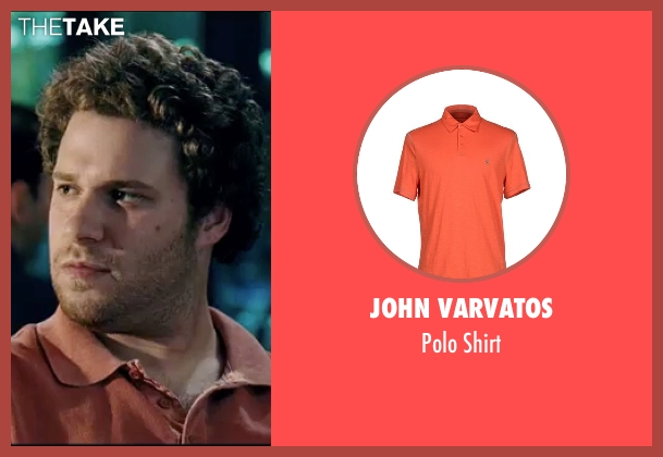 John Varvatos orange shirt from Knocked Up seen with Seth Rogen (Ben Stone)