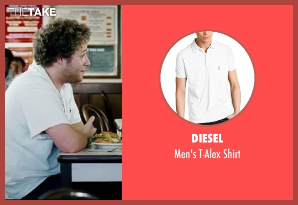 Diesel white shirt from Knocked Up seen with Seth Rogen (Ben Stone)