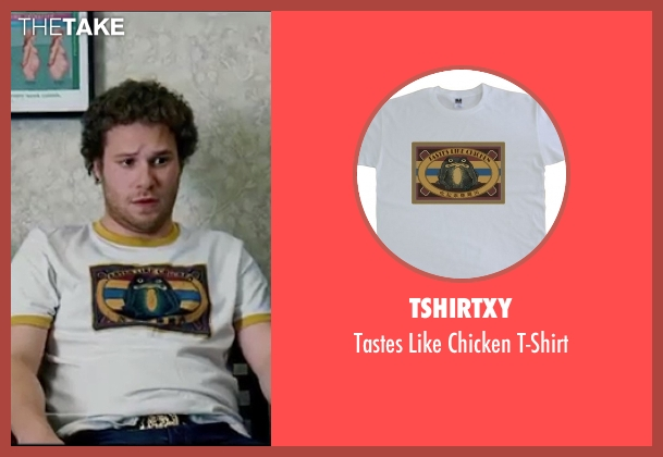 TshirtXY white t-shirt from Knocked Up seen with Seth Rogen (Ben Stone)