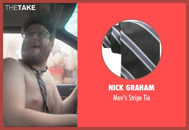 Nick Graham black tie from Neighbors 2: Sorority Rising seen with Seth Rogen (Mac Radner)