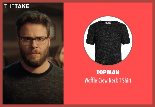 Topman black t-shirt from Neighbors 2: Sorority Rising seen with Seth Rogen (Mac Radner)