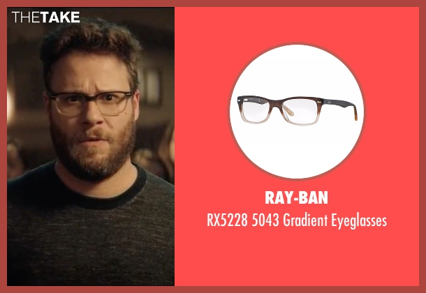Ray-Ban brown eyeglasses from Neighbors 2: Sorority Rising seen with Seth Rogen (Mac Radner)