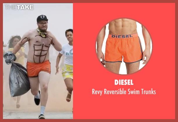 Diesel orange trunks from Neighbors 2: Sorority Rising seen with Seth Rogen (Mac Radner)