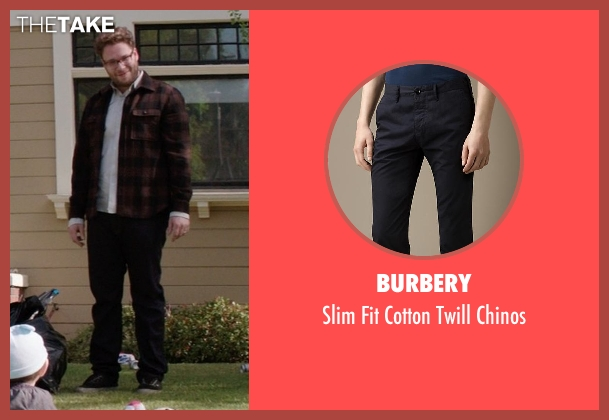 Burbery black chinos from Neighbors seen with Seth Rogen (Mac Radner)