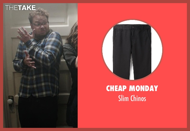 Cheap Monday black chinos from Neighbors seen with Seth Rogen (Mac Radner)