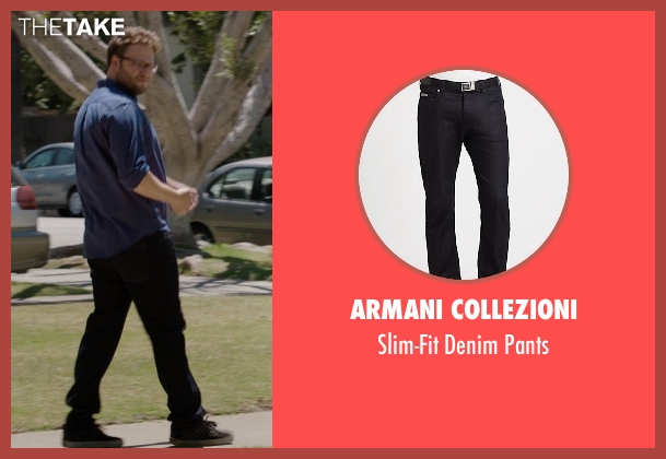 Armani Collezioni black pants from Neighbors seen with Seth Rogen (Mac Radner)