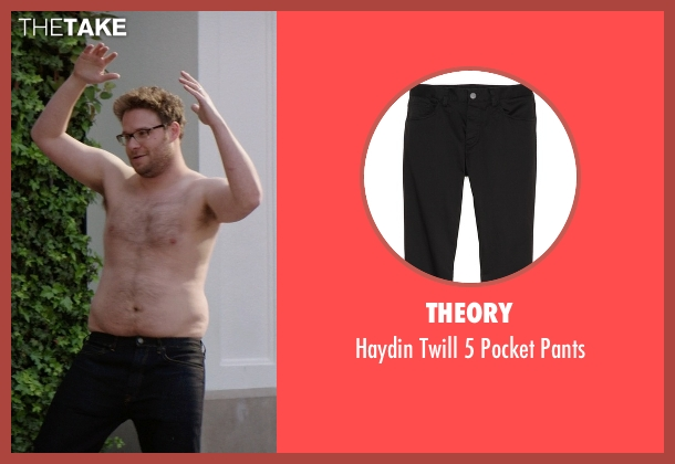 Theory black pants from Neighbors seen with Seth Rogen (Mac Radner)