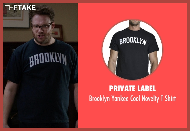 Private Label black shirt from Neighbors seen with Seth Rogen (Mac Radner)