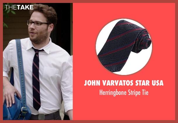 John Varvatos Star USA black tie from Neighbors seen with Seth Rogen (Mac Radner)