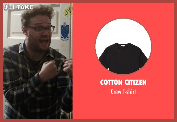 Cotton Citizen black t-shirt from Neighbors seen with Seth Rogen (Mac Radner)