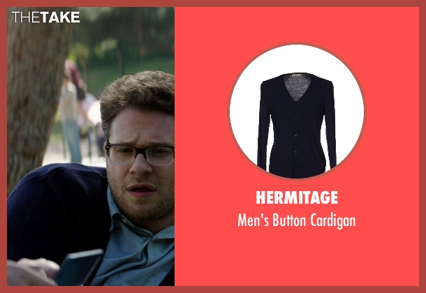 Hermitage blue cardigan from Neighbors seen with Seth Rogen (Mac Radner)