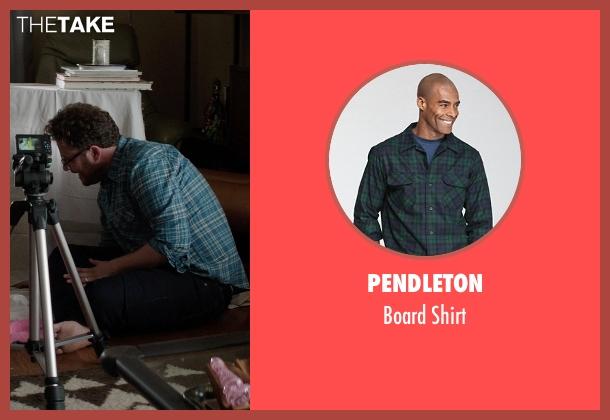 Pendleton blue shirt from Neighbors seen with Seth Rogen (Mac Radner)