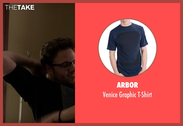 Arbor blue t-shirt from Neighbors seen with Seth Rogen (Mac Radner)