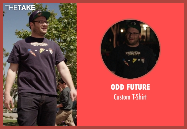 Odd Future blue t-shirt from Neighbors seen with Seth Rogen (Mac Radner)