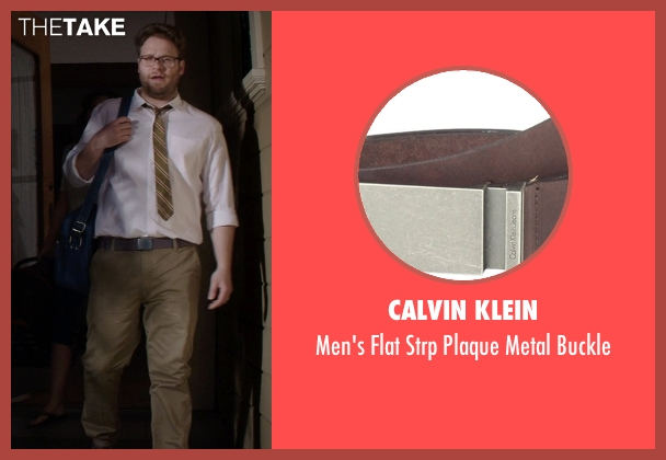 Calvin Klein brown buckle from Neighbors seen with Seth Rogen (Mac Radner)