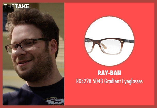 Ray-Ban brown eyeglasses from Neighbors seen with Seth Rogen (Mac Radner)