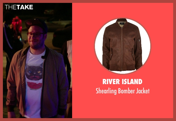 River Island brown jacket from Neighbors seen with Seth Rogen (Mac Radner)