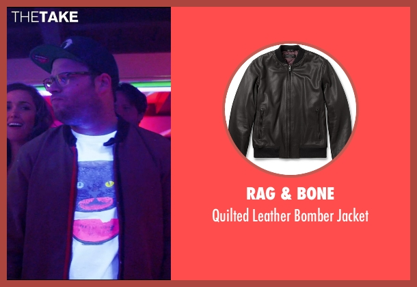 Rag & Bone brown jacket from Neighbors seen with Seth Rogen (Mac Radner)