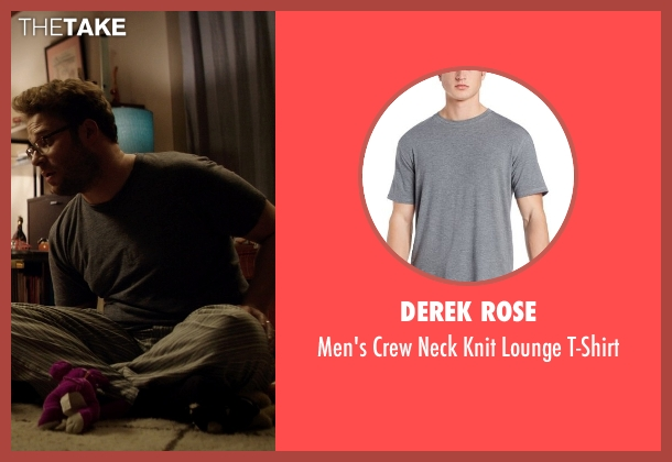 Derek Rose gray t-shirt from Neighbors seen with Seth Rogen (Mac Radner)