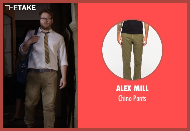Alex Mill green pants from Neighbors seen with Seth Rogen (Mac Radner)