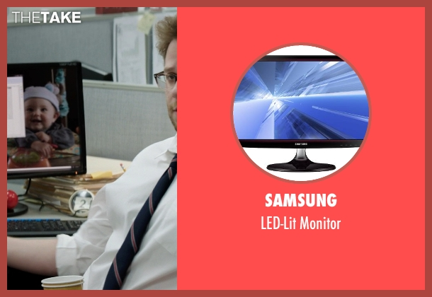 Samsung monitor from Neighbors seen with Seth Rogen (Mac Radner)