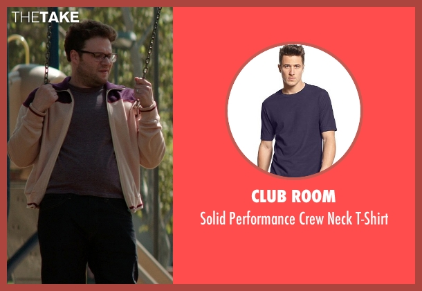 Club Room purple t-shirt from Neighbors seen with Seth Rogen (Mac Radner)
