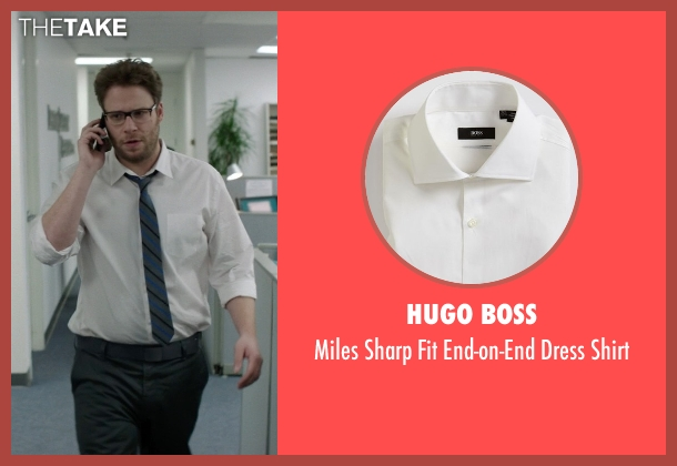 Hugo Boss white shirt from Neighbors seen with Seth Rogen (Mac Radner)