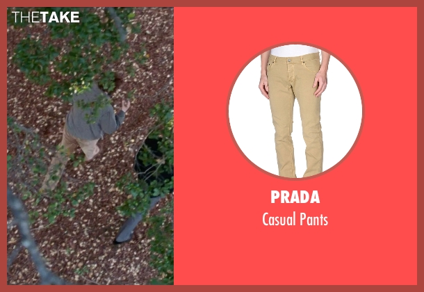 Prada beige pants from Steve Jobs seen with Seth Rogen (Steve Wozniak)