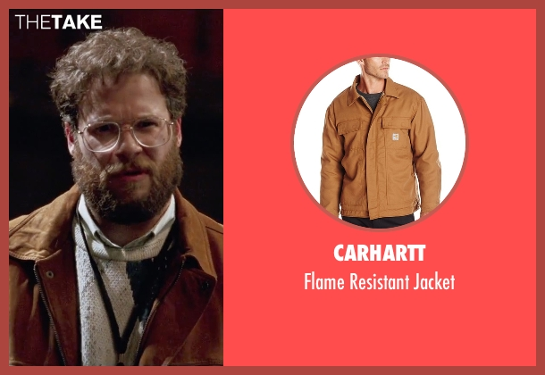 Carhartt brown jacket from Steve Jobs seen with Seth Rogen (Steve Wozniak)