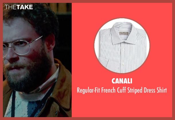 Canali white shirt from Steve Jobs seen with Seth Rogen (Steve Wozniak)