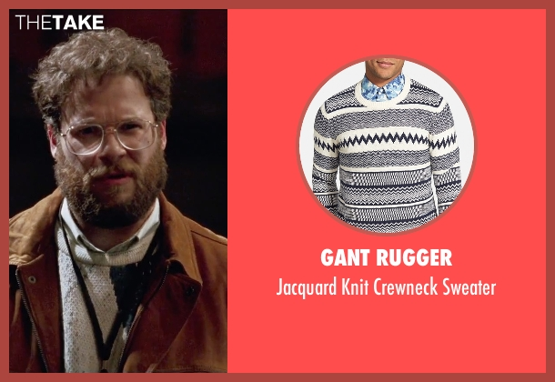 Gant Rugger white sweater from Steve Jobs seen with Seth Rogen (Steve Wozniak)