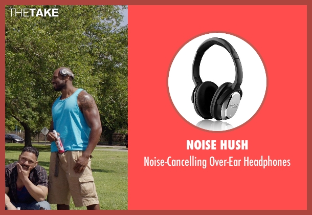 Noise Hush black headphones from Get Hard seen with Shad Gaspard (Big Ass Julien)