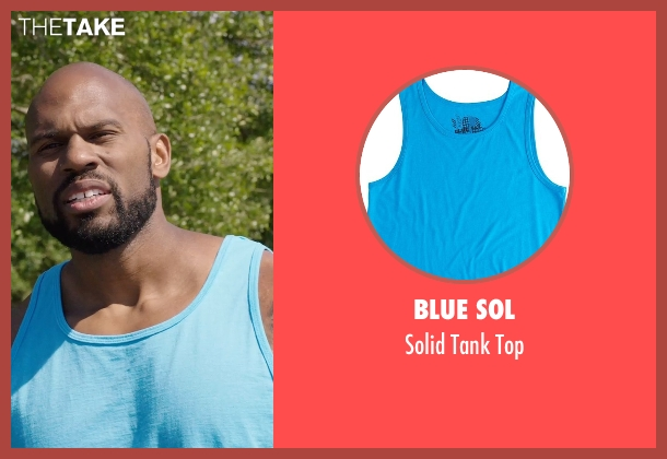 Blue Sol blue top from Get Hard seen with Shad Gaspard (Big Ass Julien)