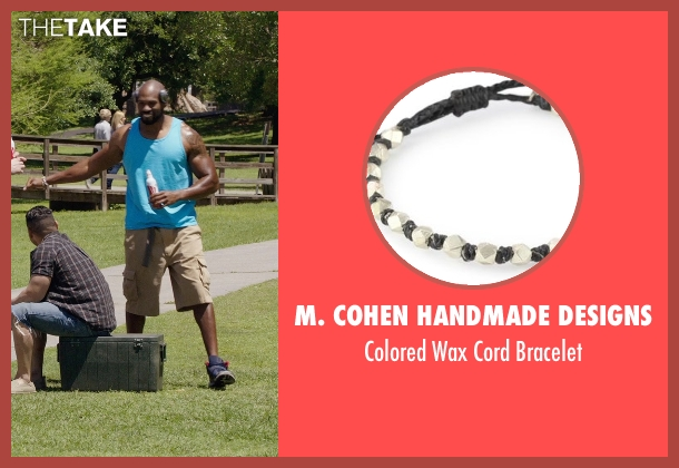 M. Cohen Handmade Designs white bracelet from Get Hard seen with Shad Gaspard (Big Ass Julien)