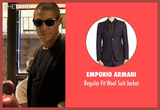 Emporio Armani black jacket from Marvel's Luke Cage seen with Shades (Theo Rossi)