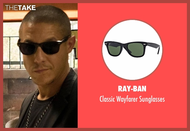 Ray-Ban black sunglasses from Marvel's Luke Cage seen with Shades (Theo Rossi)