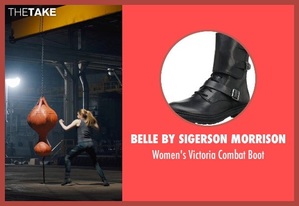Belle by Sigerson Morrison black boot from Divergent seen with Shailene Woodley (Beatrice 'Tris' Prior)