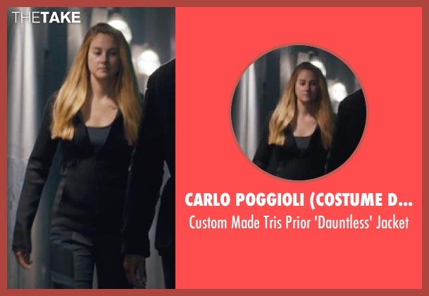 Carlo Poggioli (Costume Designer) black jacket from Divergent seen with Shailene Woodley (Beatrice 'Tris' Prior)