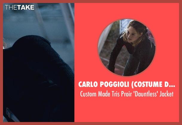 Carlo Poggioli (Costume Designer) black jacket from Divergent seen with Shailene Woodley (Beatrice 'Tris' Prior)