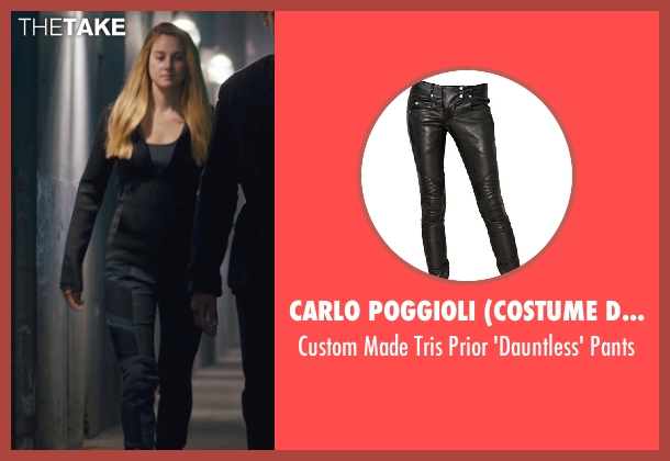 Carlo Poggioli (Costume Designer) black pants from Divergent seen with Shailene Woodley (Beatrice 'Tris' Prior)