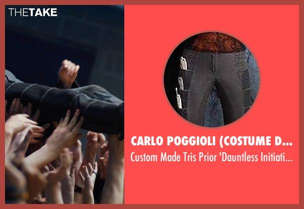 Carlo Poggioli (Costume Designer) black pants from Divergent seen with Shailene Woodley (Beatrice 'Tris' Prior)