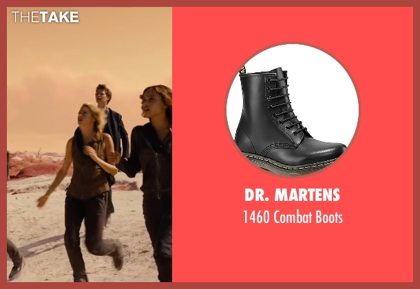 Dr. Martens black boots from The Divergent Series: Allegiant seen with Shailene Woodley (Beatrice 'Tris' Prior)