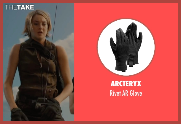 Arcteryx black glove from The Divergent Series: Allegiant seen with Shailene Woodley (Beatrice 'Tris' Prior)