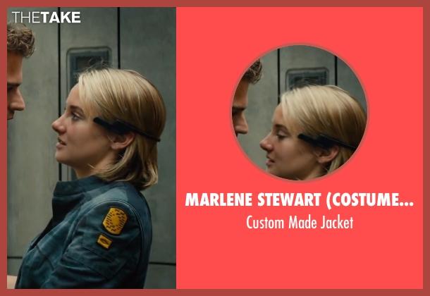 Marlene Stewart (Costume Designer) blue jacket from The Divergent Series: Allegiant seen with Shailene Woodley (Beatrice 'Tris' Prior)