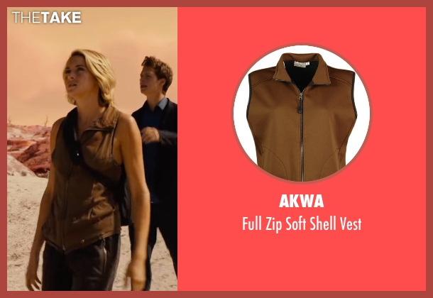 Akwa brown vest from The Divergent Series: Allegiant seen with Shailene Woodley (Beatrice 'Tris' Prior)