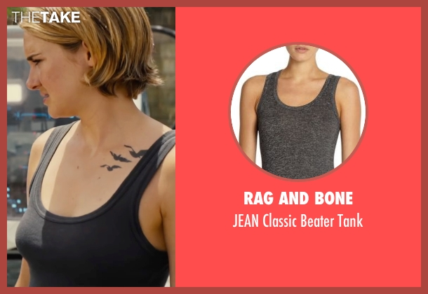 Rag and Bone gray tank from The Divergent Series: Allegiant seen with Shailene Woodley (Beatrice 'Tris' Prior)
