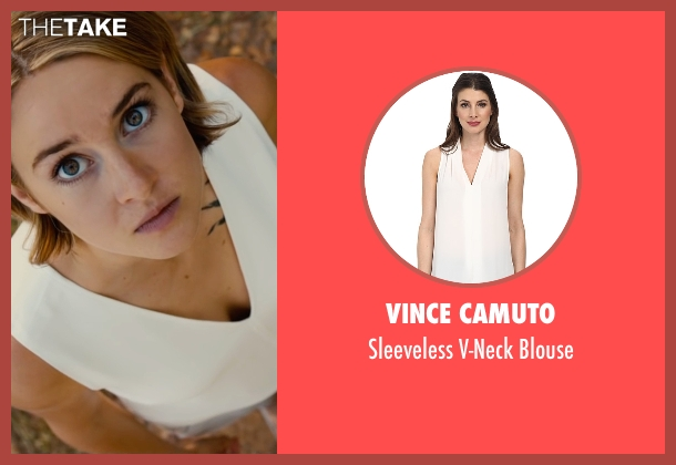 Vince Camuto white blouse from The Divergent Series: Allegiant seen with Shailene Woodley (Beatrice 'Tris' Prior)