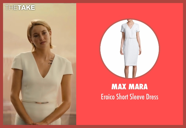 Max Mara white dress from The Divergent Series: Allegiant seen with Shailene Woodley (Beatrice 'Tris' Prior)