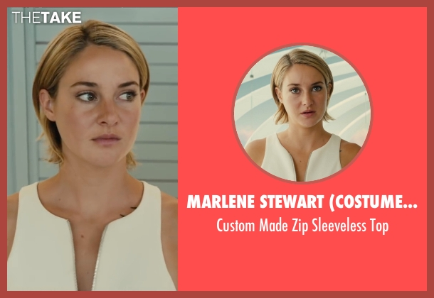 Marlene Stewart (Costume Desinger) white top from The Divergent Series: Allegiant seen with Shailene Woodley (Beatrice 'Tris' Prior)