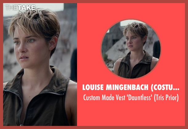 Louise Mingenbach (Costume Designer) black 'dauntless' from The Divergent Series: Insurgent seen with Shailene Woodley (Beatrice 'Tris' Prior)